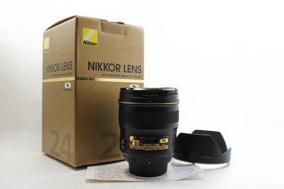 【高雄青蘋果3C】Nikon AF-S 24mm f1.4 G  廣角定焦鏡 二手鏡頭  #22952
