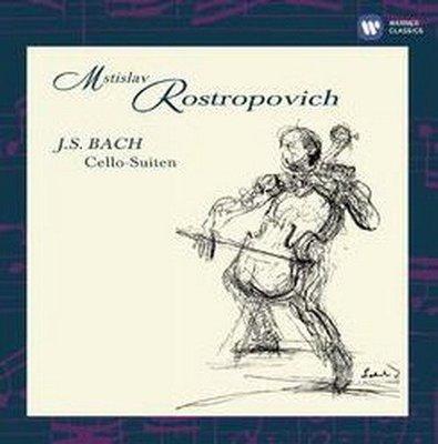 【優惠】【店長推薦】 巴哈無伴奏大提琴組曲/羅斯托波維奇 ROSTROPOVICH 2CD-2564624199