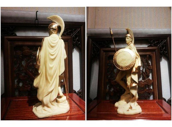 居家藝術~[ 設計作品 希臘羅馬神話系列-愛力士 Ares Mars ]-馬爾斯-猛男戰神-雕像.