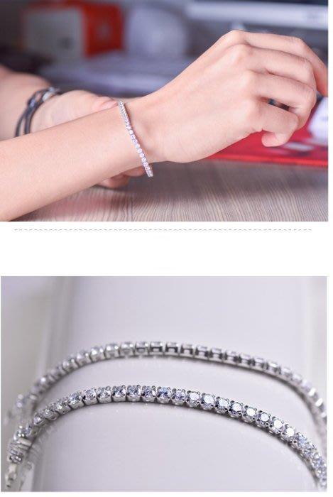 【黛恩珠寶 DIAN JEWELRY】流百年經典款CZ鑽手鍊925純銀 流行 珠寶鑽石紅寶翡翠網路最低價超低價衝評價時尚