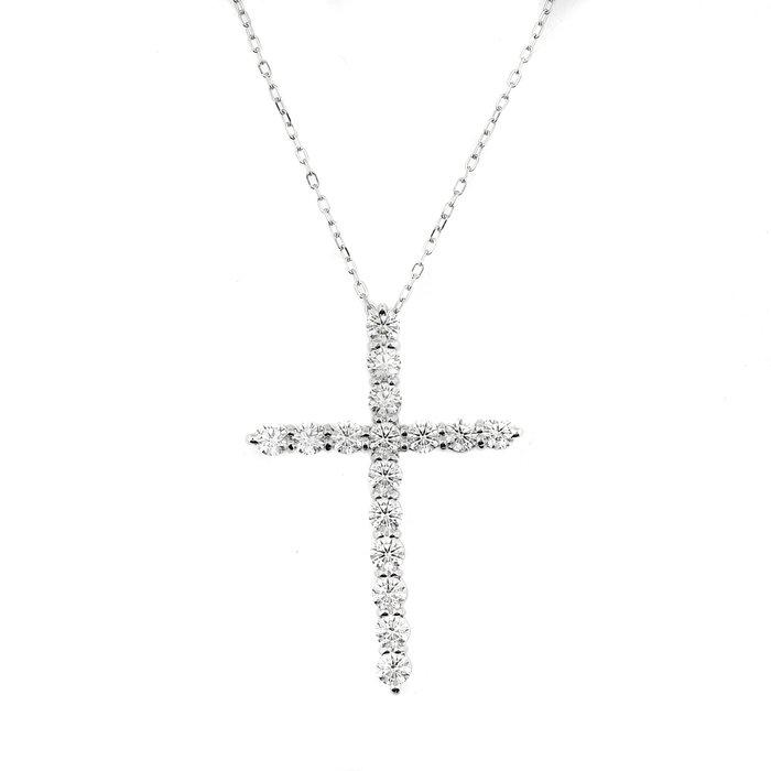 【JHT 金宏總珠寶/GIA鑽石專賣】1.00ct天然鑽石十字架項鍊/材質:18K/附證書(JB44-A25)