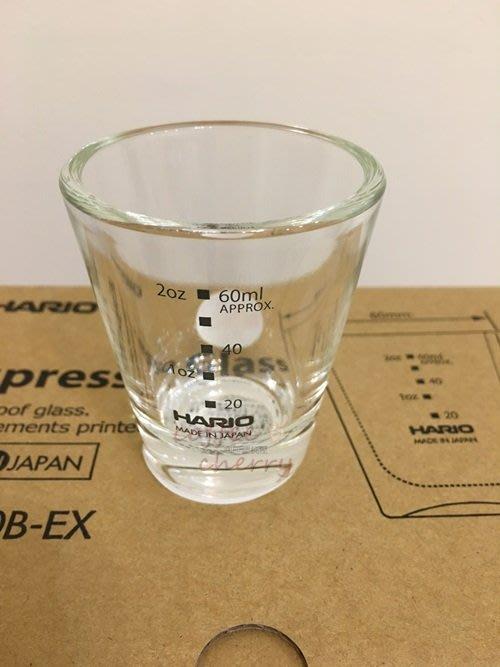 @咖啡櫻桃屋@HARIO SGS-80B-EX(80ML) 咖啡玻璃杯 玻璃量杯 濃縮咖啡杯 盎司杯 厚底量杯