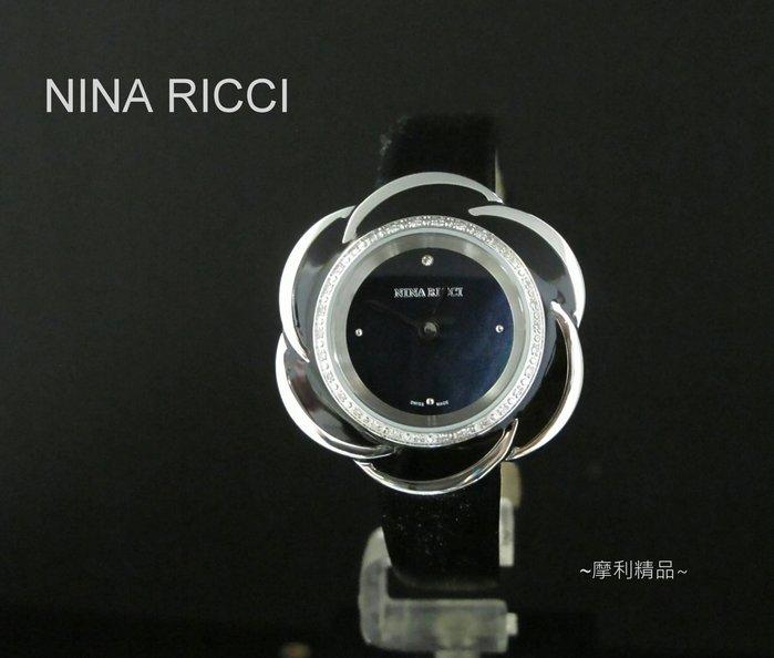 【摩利精品】NINA RICCI 花朵鑽錶 *真品* 低價特賣