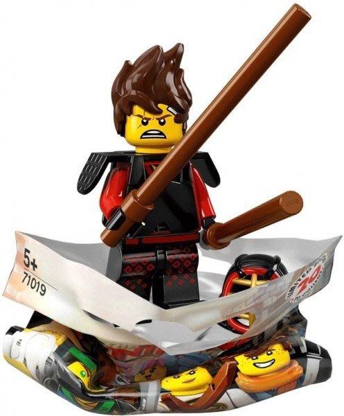 現貨【LEGO 樂高】積木/ Minifigures人偶包系列: 忍者電影 71019 | #1 劍道裝赤地 KAI