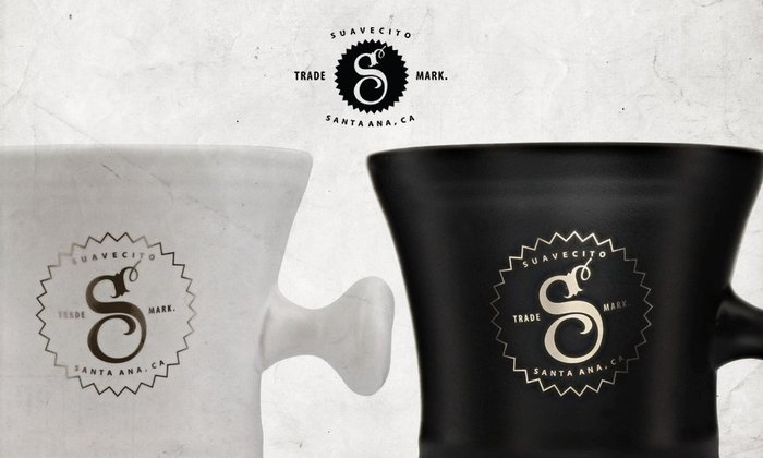 GOODFORIT/ 加州Suavecito Premium Blends Shave Mug高端金箔陶瓷鬍皂杯/兩色