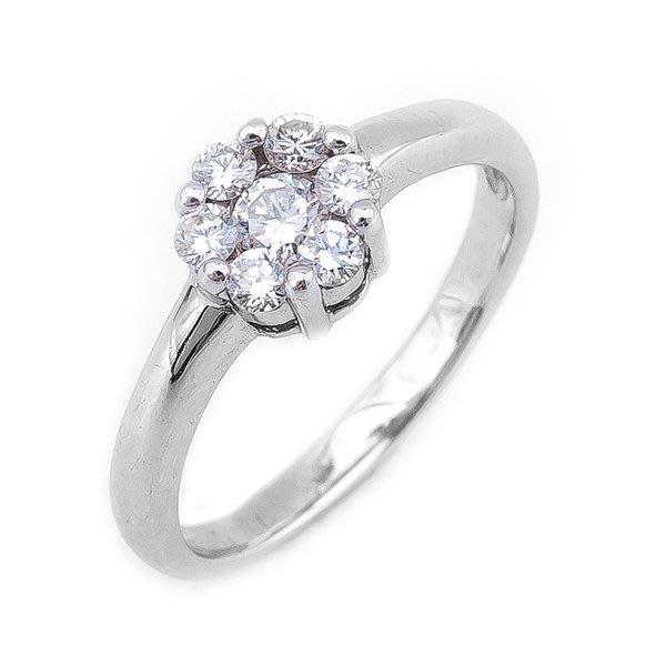 【JHT 金宏總珠寶/GIA鑽石專賣】0.40ct天然鑽石造型戒指/材質:18K(D000195)