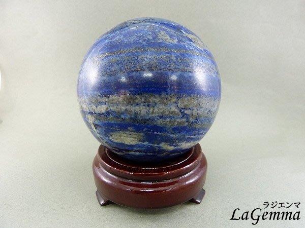 ☆寶峻晶石館☆新貨到~美麗深藍色 青金石球 BG-1 直徑9.9cm 加強表達,溝通能力以及增加說服力、自我信心