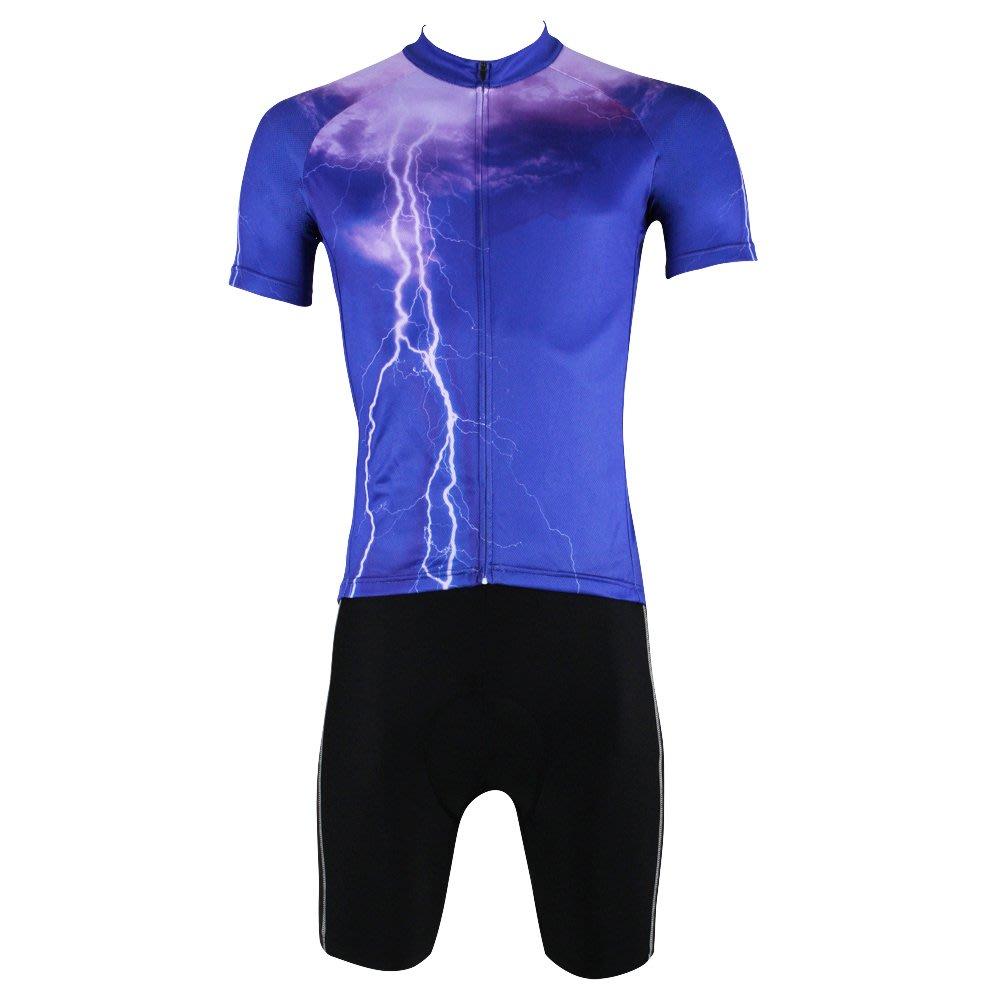 【Paladin】男款短袖車衣套裝 :: 雷電