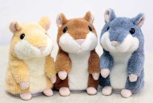 【會說話的倉鼠】 點頭倉鼠 回聲鼠 應聲娃娃 錄音 模仿老鼠 安啾 迴聲小倉鼠 回聲玩偶 兒童節禮物 ミミクリーペット