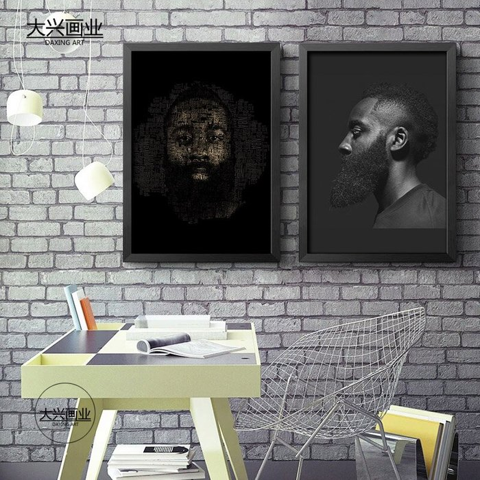 Harden哈登海報掛畫籃球明星NBA裝飾畫壁畫牆畫宿舍臥室禮物火箭(多款可選)
