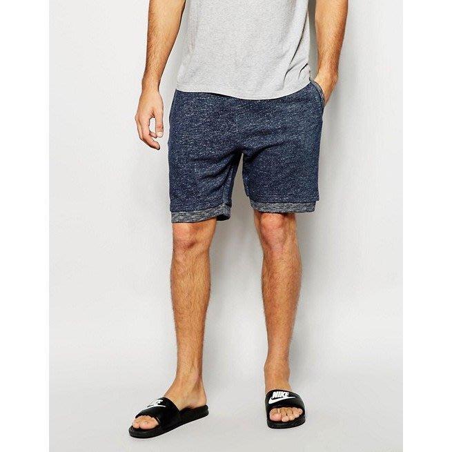 Bellfield Indigo Jersey Shorts 混藍棉質短褲 M