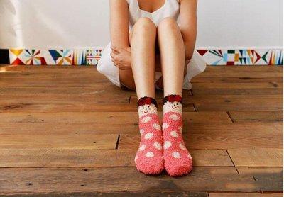 哈樂購~ 地板襪睡眠襪珊瑚絨襪子女孩冬天保暖毛巾襪成人加厚保暖短襪 聖誕節交換禮物/ 情人節,過年送禮