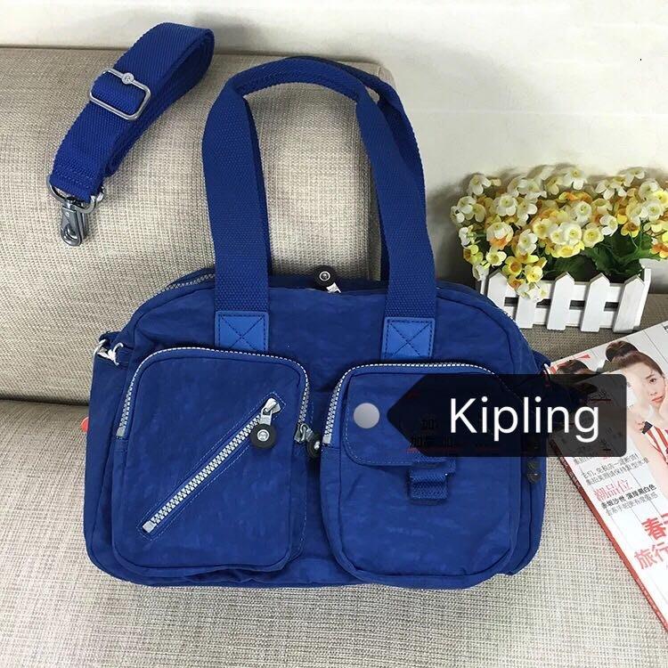 Kipling 猴子包 寶藍 多夾層拉鍊款輕量手提肩背斜背包 限時優惠 防水