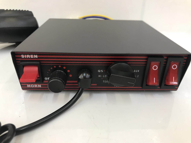 【炬霸科技】12V 200W 主機 警報器 警笛 大聲公 消防車 救護車 混音 CJB 警示燈 開關 喊話器