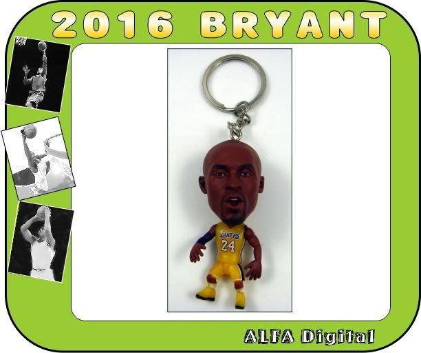 免運費!最新到貨!湖人隊小飛俠布萊恩Kobe Bryant公仔鑰匙圈/高度約6.5公分!限量只有10隻要買要快!!