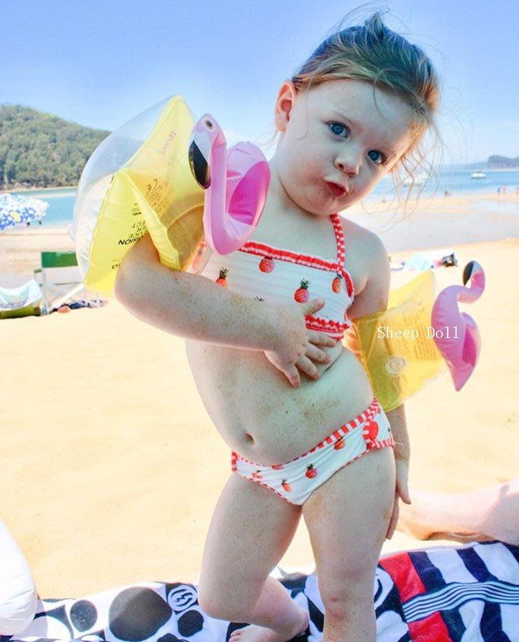 ins熱銷兒童游泳手臂輔助圈螃蟹 火烈鳥 兒童臂圈 游泳 戲水 泳圈