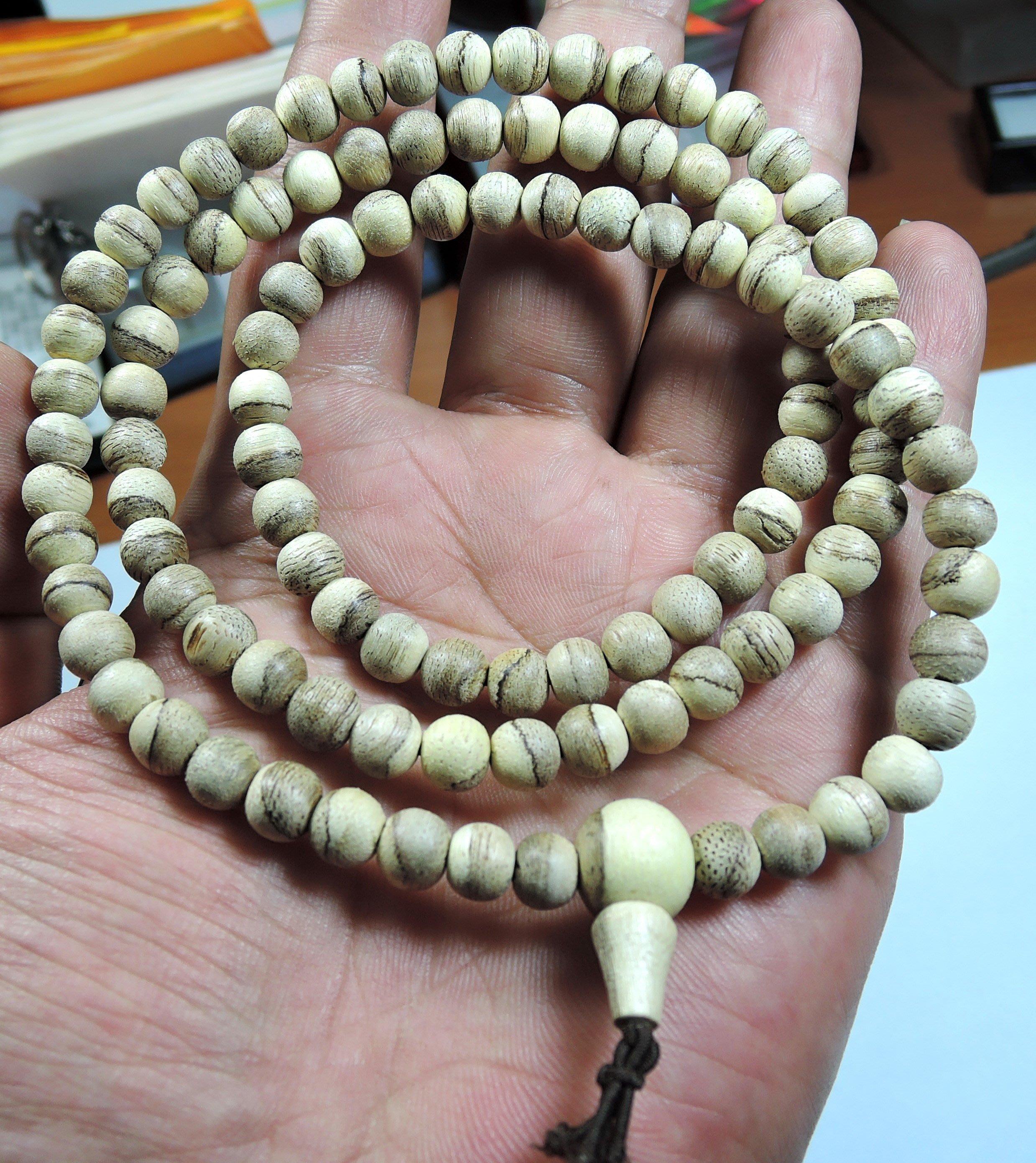 缺貨可議價19R1印尼加里曼丹油線好沉香.108顆手珠6mm約0g