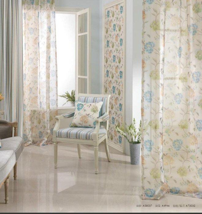 台中窗簾~雅式多窗簾布~無接縫窗紗~歐式古典~2~每呎240~124元 中~台中市免 ~