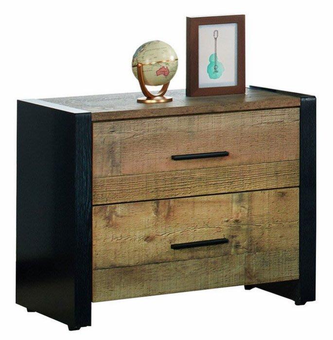 【DH】貨號N15-2名稱《韋恩》53CM厚切木紋床頭櫃(圖一)木心板台灣製可訂做.主要地區免運費