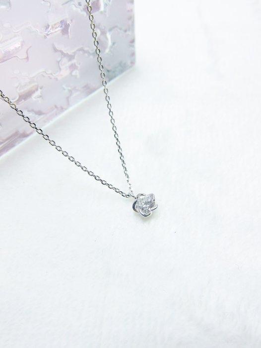 日本18K 花形鑽石項鍊【元圓珠寶】