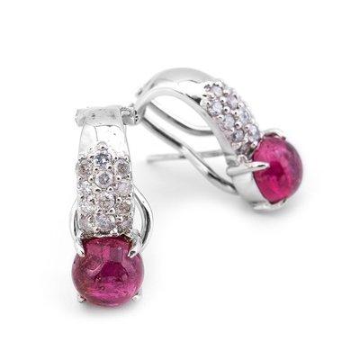 【JHT 金宏總珠寶/GIA鑽石專賣】3.51ct天然紅寶鑽石耳環/材質:18K(R00039)