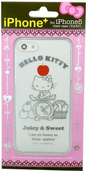 尼德斯Nydus~* 日本正版 Hello kitty 凱蒂貓 透明系列 手機殼 保護殼 iphone 5 5S 磅秤款