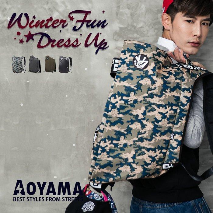 街頭潮流 潮牌X特色全開式加厚背袋後背包/電腦包【A90751】青山AOYAMA  旅行包