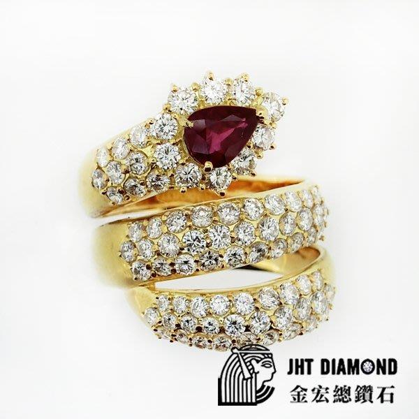 【JHT金宏總珠寶/GIA鑽石專賣】天然紅寶鑽石戒指-R:1.05ct-D:2.76ct(JB30-A07)
