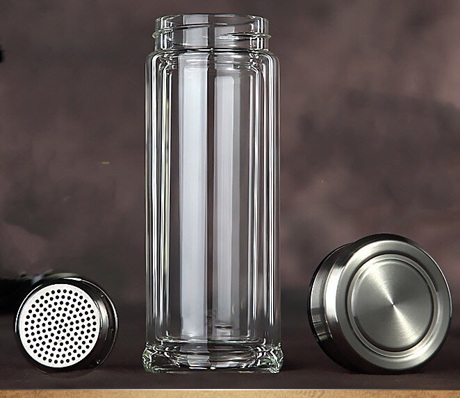 伊媽小舖-雙層加厚商務玻璃泡茶杯