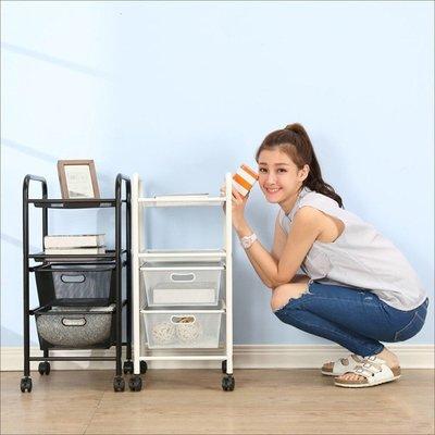 臥室/辦公室【居家大師】I-J-SH043 專利二層二抽活動收納櫃/工具車(鐵架/收納架/置物架/層架/書架/書櫃