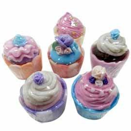 金德恩 甜點杯子蛋糕造型香皂禮盒2入