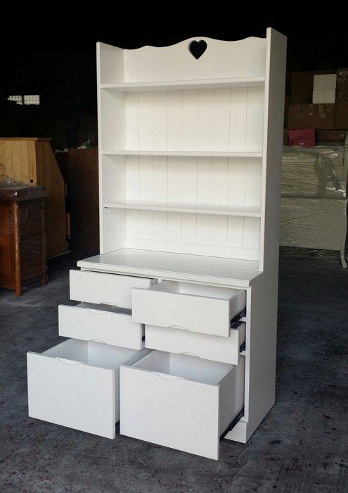 美生活館 鄉村 客訂 全原木 純白色 斗櫃收納書桌開放書櫃結合功能櫃書架 收納櫃 可修改尺寸顏色再報價 展示櫃店面居家