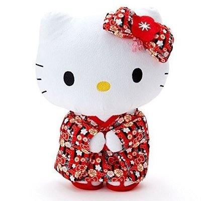 Hello Kitty KT和服毛絨娃娃M4548643079176