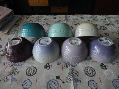 全新LE CREUSET 陶瓷 飯碗12cm 韓式湯碗 日式飯碗 亮黃 沙丘白 淺野莓紫 薄荷綠 薔薇粉 深咖啡