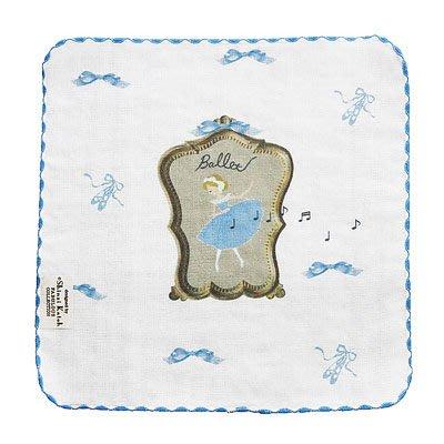 芭蕾小棧生日畢業表演禮物日本進口Shinzi Katoh加藤真治手帕紗布巾方巾毛巾小藍Ballet