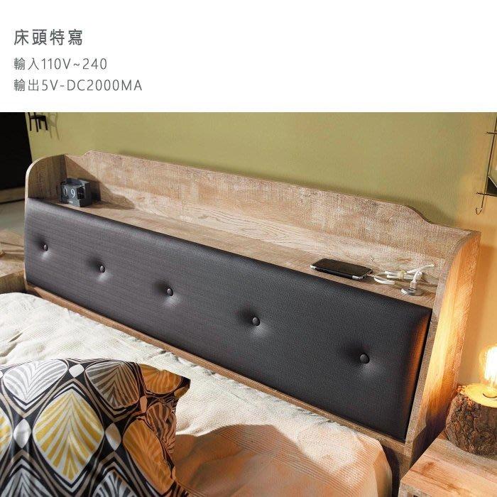 【DH】貨號D5-3名稱《天閣》工業風5尺床頭箱(圖一)貓抓皮革可掀開置物附插座備3.5尺可選台灣製可訂做主要地區免運費