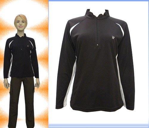 「喜樂屋戶外」台灣製女款長袖排汗衫排汗衣抗UV透氣、快乾、不黏身#G17004 零碼出清
