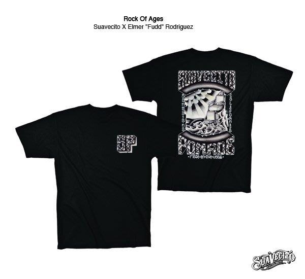 GOODFORIT / 美國Suavecito Rock Of Ages T-Shirt經典刺青上衣/S