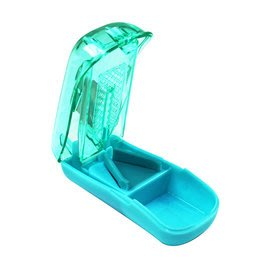 金德恩 不鏽鋼刀片攜帶型隱藏式切藥器/SGS認證 - 藍色/綠色兩色可選