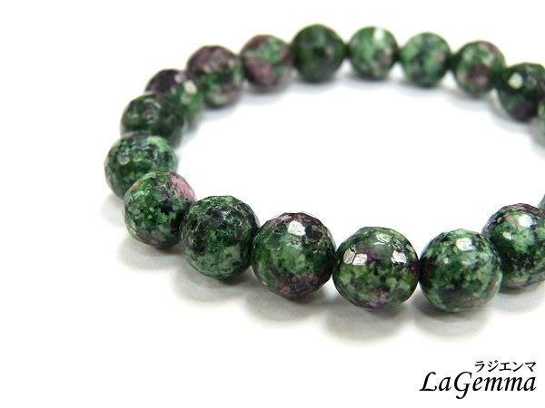 【寶峻水晶】紅綠寶石手鍊/手珠,紅寶石+綠寶石8mm:角珠/圓珠2選1,繁榮興盛的能量
