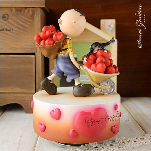 Sweet Garden, 送女友 情人禮物 WSA戀愛系列 最佳情人 給你滿滿的愛旋轉音樂盒(免運)