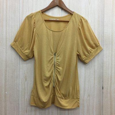 【愛莎&嵐】8 happy 女 黃色短袖上衣 / 3 1070524