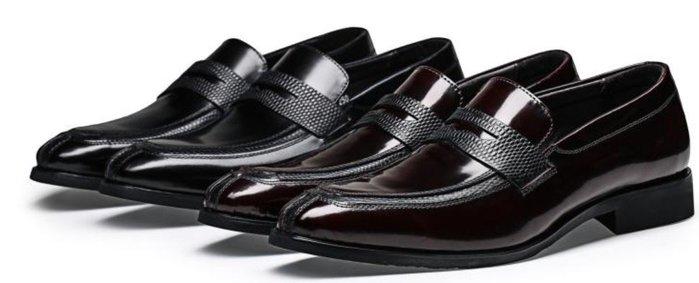 新品英倫男士正裝皮鞋真皮套腳尖頭男鞋牛漆皮商務婚宴皮鞋