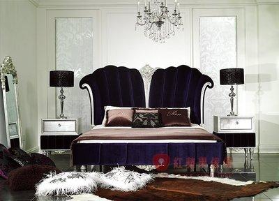 [紅蘋果傢俱] YL-9002 依萊系列 新古典 歐式 法式 雙人床 床台 床架 工廠直營
