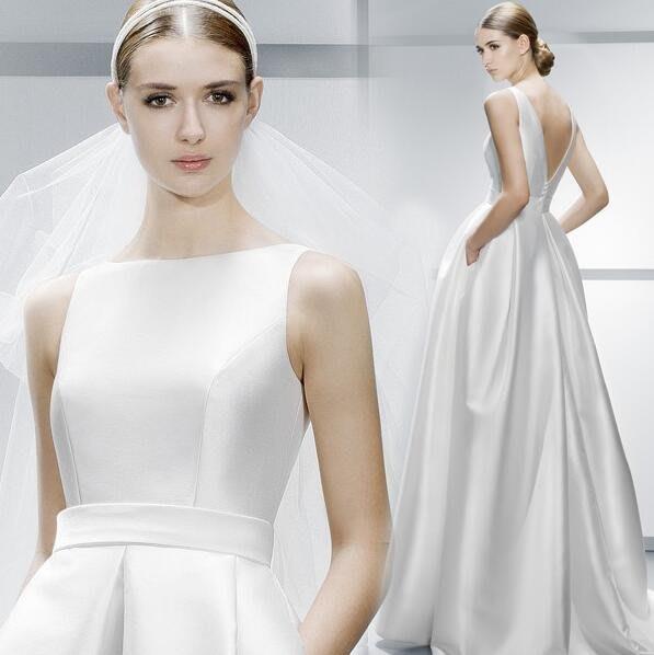 哈尼^一字肩白色婚紗禮服齊地拖尾晚禮服新娘晚宴服伴娘年會活動禮服可訂做顏色