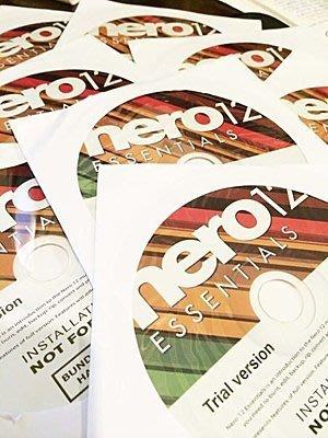 (買一送一) 燒錄軟體 Nero12 隨機版(試用版) W8 /WIN10/W7  含安裝光碟 促銷~貨量很足 宅天下