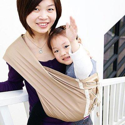 Una馬甲背巾~Vest sling更簡單、更親密、更時尚的無環哺乳揹巾☆╮香檳金╭☆台灣製好品質
