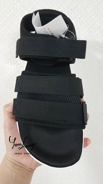【Luxury】Adidas Adilette Sandal 2.0 涼鞋 網眼 黑色款 男女鞋 AC8583 魔鬼氈