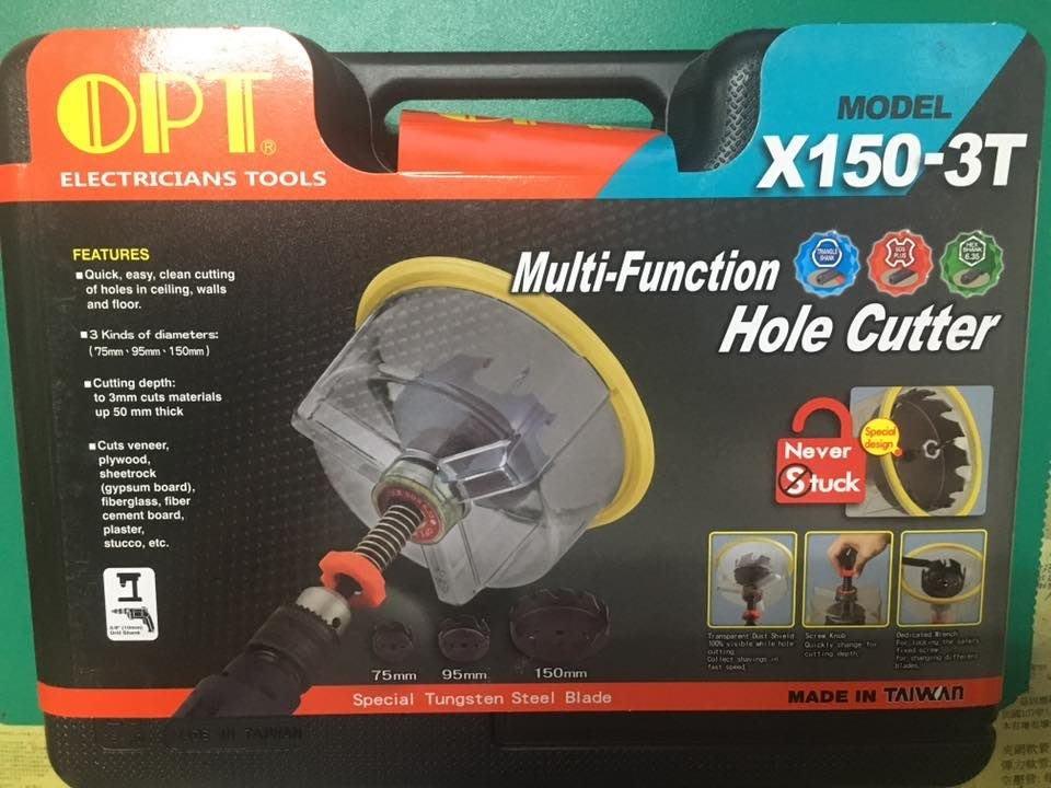 [曾旺]OPT X-150 3T 木工多功能防塵罩鑽孔器 木材矽酸鈣板 自在錐 美耐板 崁燈挖孔器 防火石膏板