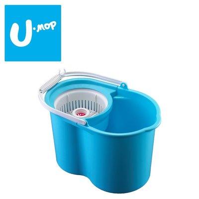 1桶【U-mop 手壓式旋轉拖把】|好神拖通用、 MIT台灣製